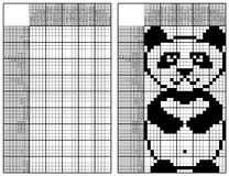 Japanese crossword. With panda and answer Stock Image