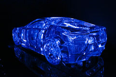 Japanese crystal concept car Stock Images