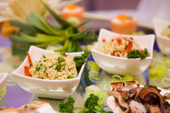 Japanese cuisine. With rice and seafood Royalty Free Stock Images