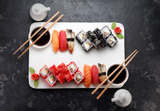 Japanese cuisine. Asian food. Sushi. Stock Photos