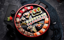 Japanese cuisine. Asian food. Sushi. Royalty Free Stock Photos