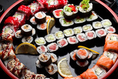 Japanese cuisine. Asian food. Sushi. Stock Images