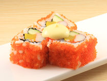 Japanese cuisine. Asian health food,sushi,The plate,sashimi,Rice balls,tuna,salmon,eat stock photo