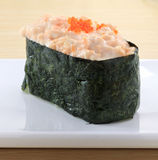 Japanese cuisine. Asian health food,sushi,The plate,sashimi,Rice balls,tuna,salmon,eat Stock Images