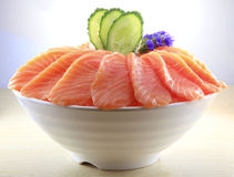 Japanese cuisine. Asian health food,sushi,The plate,sashimi,Rice balls,tuna,salmon,eat Royalty Free Stock Photography