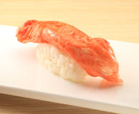 Japanese cuisine. Asian health food,sushi,The plate,sashimi,Rice balls,tuna,salmon,eat Royalty Free Stock Photo