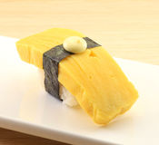 Japanese cuisine. Asian health food,sushi,The plate,sashimi,Rice balls,tuna,salmon,eat Royalty Free Stock Images