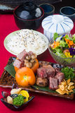 Japanese cuisine. beef cube on the background Stock Photo