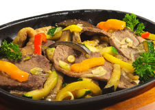 Japanese Cuisine - Beef with Vegetables Stock Photo
