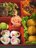 Japanese Cuisine - Bento Lunch Stock Photo