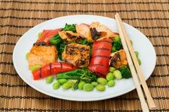Japanese cuisine - Chargrilled Salmon teriyaki Stock Images