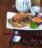 Japanese cuisine. crab on background. Japanese cuisine. crab on the background stock photo