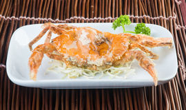 Japanese cuisine. crab on the background. Japanese cuisine. crab on the background royalty free stock image