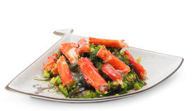 Japanese Cuisine - Crab sticks Salad Royalty Free Stock Photo
