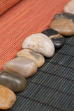 Japanese Cuisine Decoration. Japanese Cuisine Dining Table Asset Stones Stock Photos