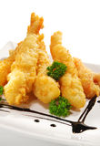 Japanese Cuisine - Deep-fried Shrimps Royalty Free Stock Photos