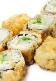 Japanese Cuisine - Deep-fried Sushi Roll Royalty Free Stock Photo