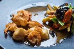Japanese Cuisine - Ebi Tempura with Vegetables Stock Image