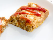 Japanese cuisine, fermented soybeans omlette Royalty Free Stock Photography