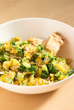 Japanese cuisine, fish and egg fried rice with grilled chicken Stock Photos