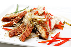 Japanese Cuisine - Fish Plate Royalty Free Stock Photography