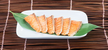 Japanese cuisine. fried fish on the background Stock Images
