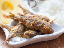 Japanese cuisine, fried fish marinade called Aji No Namban. In the dish Royalty Free Stock Image