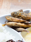 Japanese cuisine, fried fish marinade called Aji No Namban. In the dish Royalty Free Stock Photo