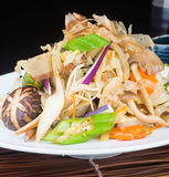 Japanese cuisine. fried mix vegetables on the background Stock Photo