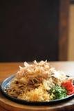 Japanese cuisine, fried noodles Yakisoba Stock Image