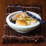 Japanese cuisine. fried tofu on the background Stock Photography