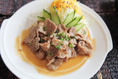 Japanese cuisine, Ginger pork Stock Photography