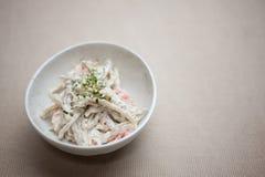 Japanese Cuisine Gob� (Burdock) salad Royalty Free Stock Photo