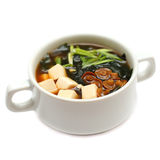 Japanese cuisine - gourmet soup Royalty Free Stock Photo