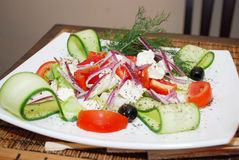 Japanese Cuisine Greece salad Royalty Free Stock Image
