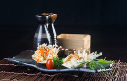 Japanese cuisine. grilled shell fish on the background Stock Photography