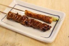 Japanese cuisine Grilled ,teriyaki skewers Yakitori Royalty Free Stock Images