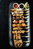 Japanese cuisine Grilled ,yakitori Royalty Free Stock Photo