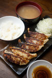 Japanese Cuisine Gy�za or Potstickers Royalty Free Stock Photography