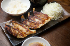 Japanese Cuisine Gy�za or Potstickers Stock Image