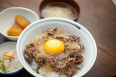 Japanese Cuisine Gyūdon Royalty Free Stock Images