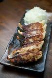 Japanese Cuisine Gyōza or Potstickers Stock Photos