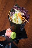 japanese cuisine. hand roll on the background Royalty Free Stock Images