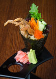 Japanese cuisine. hand roll on the background Stock Images