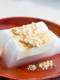Japanese cuisine, homemade tofu agar jelly Stock Photos