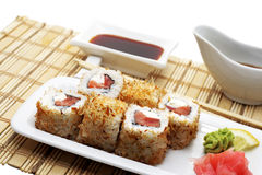 Japanese Cuisine - Hot Rolls Royalty Free Stock Photography