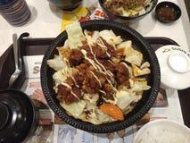 Japanese cuisine. Japanese bento set Stock Photo