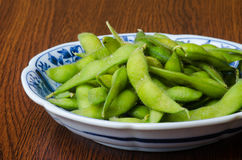 Japanese cuisine. japanese soybean on the background Royalty Free Stock Photos