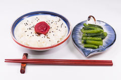 Japanese cuisine ,Japanese white rice and Traditional Japanese U Royalty Free Stock Photography