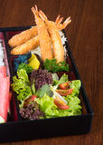 Japanese cuisine. lunch box set on the background Royalty Free Stock Photography
